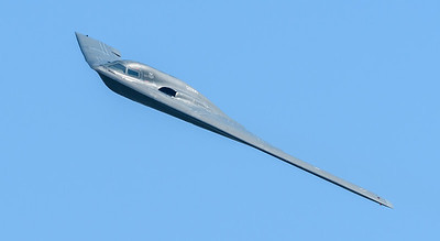 USAF B-2 Spirit from Whiteman AFB, Missouri.  A $2 billion airframe that never lands anywhere but Whiteman or Guam