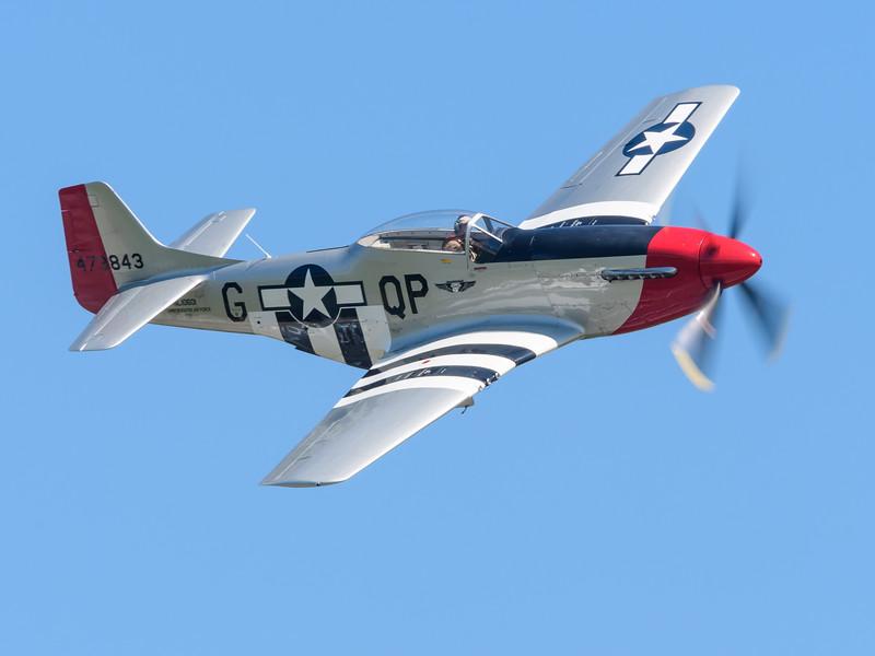 """WW 2 era P-51 Mustang """"Red Nose"""""""