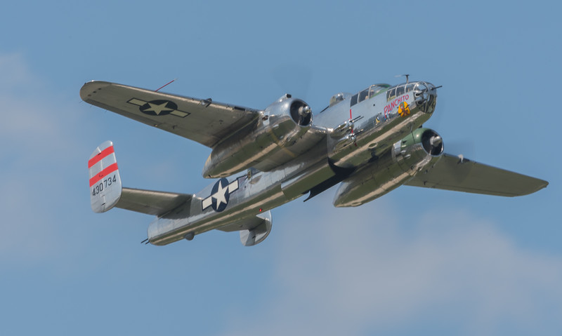 """WW2 B-25 """"PANCHITO"""" owned by Larry Kelly of Delaware"""
