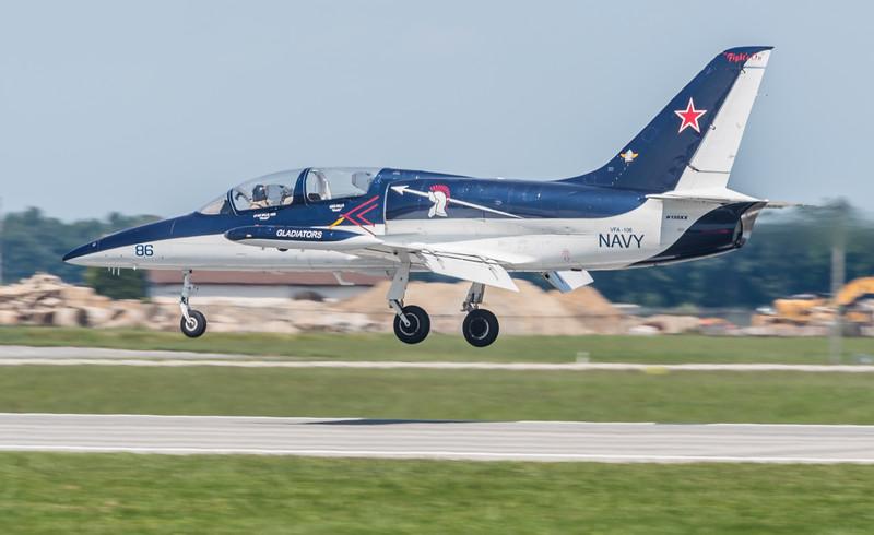 Czech L-39 landing on Runway 14-32
