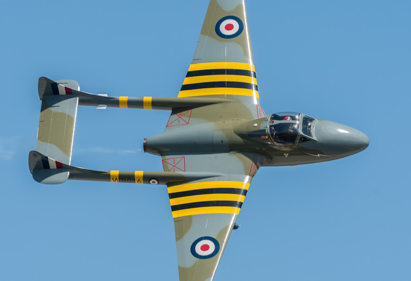 High speed pass of the DeHavilland Vampire