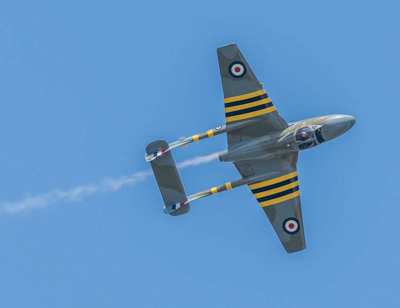 British DeHavilland Vampire inverted