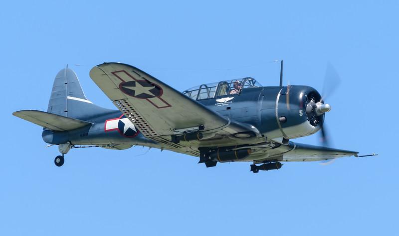 WW2 era SBD Dauntless Dive Bomber