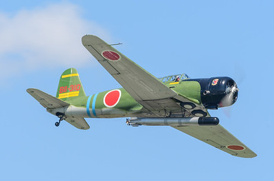 "Replica WW2 era Japanese Nakajima B5N2, named ""Kate"" by the allies was a torpedo bomber. This particular airplane was ""built"" using a North American SNJ-4 and the tail section of a Vultee - BT13. This flew in the movie ""Tora Tora Tora""."