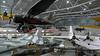 "Duxford Air Space building<br /> <br /> Avro 698 Vulcan B2<br /> <br />  <a href=""http://en.wikipedia.org/wiki/Avro_Vulcan"">http://en.wikipedia.org/wiki/Avro_Vulcan</a>"