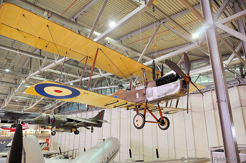RE8  WWI reconnaissance and artillery-spotting plane.