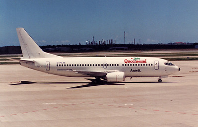 G-PATE B737-300 DURING 1989 PILOTS STRIKE
