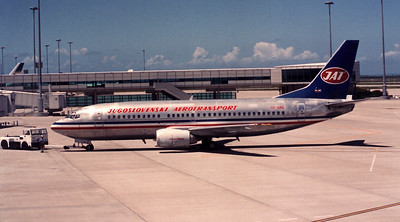 YU-AND YUGOSLAV AIRLINES B737-300 DURING 1989 PILOTS STRIKE