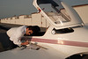 Scott going through the pre-flight check list