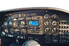 Instrument panel on the DA-20.  We are squawking 1-2-0-0 as we are VFR (Visual Flight Rules)