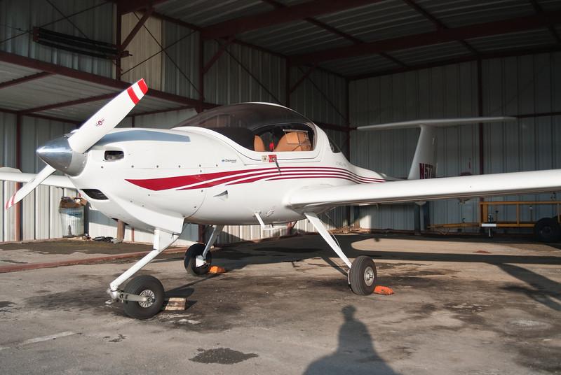 DA-20 in the hangar at Martin State Airport, Essex, MD