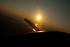 Sunset through the prop. I could not steady myself to shoot a stable shot (ID 10 t error)