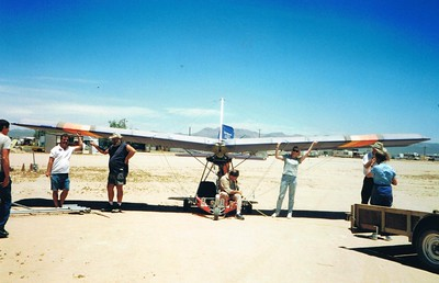 Preparing to remove the wings