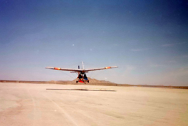 Engine Failure Over the Mojave Desert