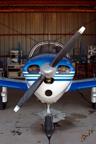 The Ercoupe in the Roswell Hangar.