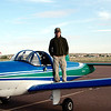 Me on the wing of the Ercoupe in Taylor, Arizona.
