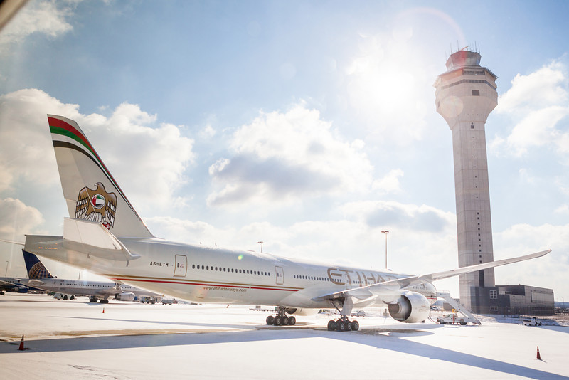 "www.jdbphoto.com<br />  <a href=""http://www.fb.com/jdbphoto"">http://www.fb.com/jdbphoto</a><br /> <br /> Etihad Airways at Washington Dulles International Airport.<br /> <br /> Photography by J. David Buerk."