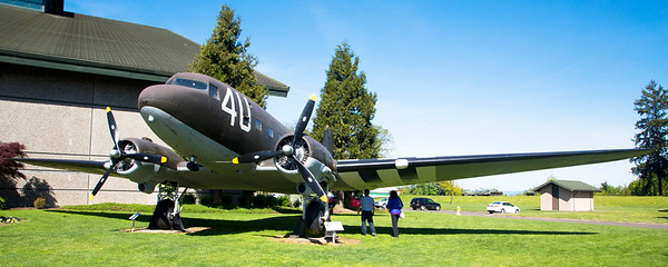 Outside the Museum, this C-47, the military version of the Douglas DC-3.