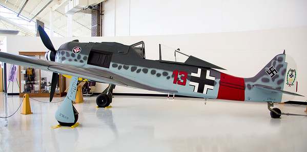 The Focke-Wolfe FW-190 -- excellent WW-II German fighter.