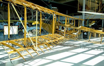 "Curtiss JN-4 ""Jenny"", first airplane that John Lienhard III learned to fly."