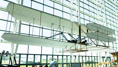 Replica of the 1903 Wright biplane.