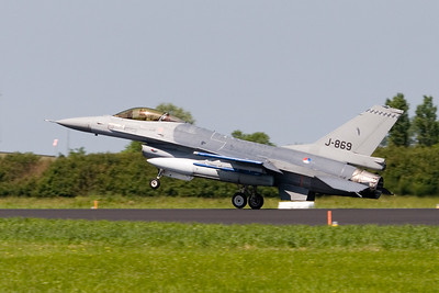 F-16. J-869. Royal Netherlands Air Force.