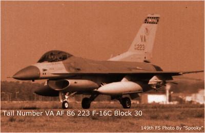 F-16C Va ANG 223viper