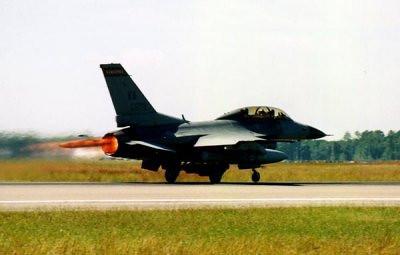 F-16 Va  ANG takeoff