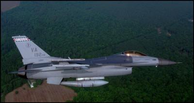 F-16 Va ANG Airview