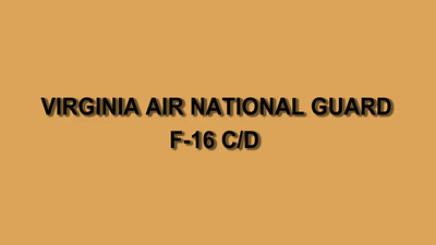 Virginia Air National Guard - F-16 Video