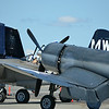Grumman F7F-3 Tigercat, Lockheed P-38J Lightning, and Vought F4U-1A Corsair