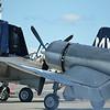 Grumman F7F-3 Tigercat, Lockheed P-38J Lightning, and Vought F4U-1A Corsair