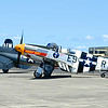 Grumman F7F-3 Tigercat, Lockheed P-38J Lighning, Vought F4U-1A Corsair, Norht American P-51B Mustang and Piper L-4 Grasshopper