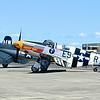 Grumman F7F-3 Tigercat, Lockheed P-38J Lighning, Vought F4U-1A Corsair, Norht American P-51B Mustang and Piper L-4 Grasshopper