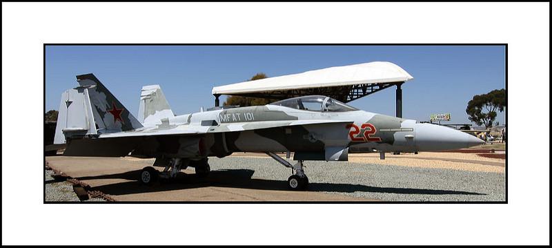 "McDONNELL-DOUGLAS  (BOEING) F/A-18A  ""HORNET""<br /> TOPGUN ""AGRESSOR"" COLORS"