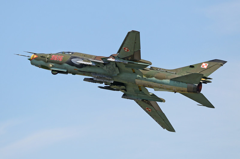 "Airshow Fairford 2014 - Polish Air Force Sukhoi Su-22 ""Fitter"""