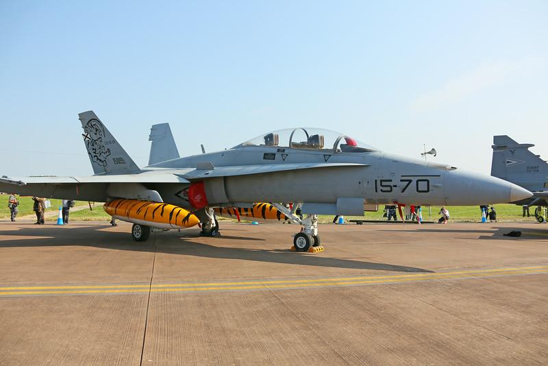 Airshow Fairford 2014 - Spanish Air Force EF-18 Hornet