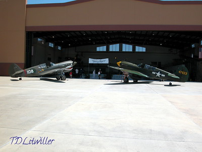 2 P-40s  at the AVG reunion held at Fantasy of Flight in April 2004