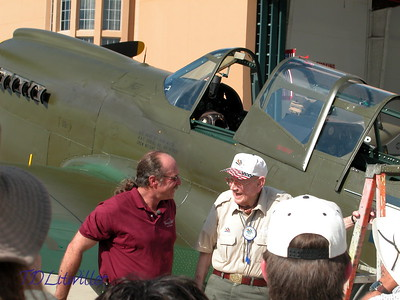 "Kermit Weeks and David Lee ""Tex"" Hill (American Volunteer Group- Flying Tigers) at the AVG reunion held at Fantasy of Flight in April 2004"