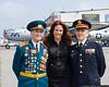 Retired Soviet Colonel Vladimir Edelman and retired US Army Captain Jack Hayne, with ABC-7 News correspondent Michelle Charlesworth.