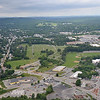 """Downtown Fitchburg, as seen while on a plane ride with Russ """"Toby"""" Hume, of the Fitchburg Pilot's Association during the Fitchburg Municipal Airport's 85th Anniversary celebration on Saturday afternoon. SENTINEL & ENTERPRISE / Ashley Green"""