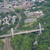 """Downtown Fitchburg, as seen on a plane ride with Russ """"Toby"""" Hume, of the Fitchburg Pilot's Association during the Fitchburg Municipal Airport's 85th Anniversary celebration on Saturday afternoon. SENTINEL & ENTERPRISE / Ashley Green"""