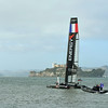 Flying wasn't the only thing happening during Fleet Week.  The America's Cup yachts were in to town to compete in a series of races.