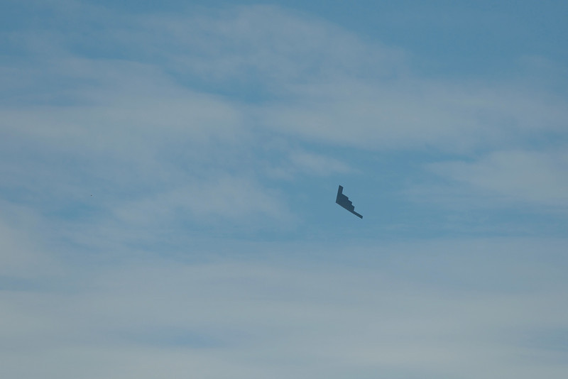 Starting off with the worst photo, but I'll probably never see another one of these again.  Just as I was boarding the ferry from Tiburon to San Francisco, this B-2 stealth bomber flew overhead.