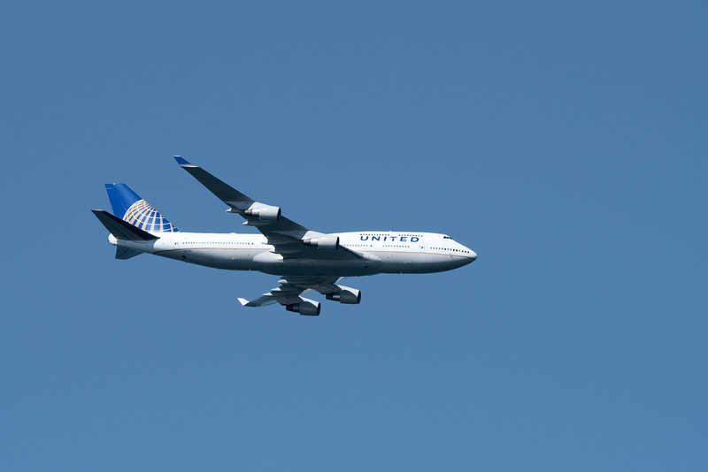 United Airlines Dreamliner.  Since Fat Albert, the Blue Angels command vehicle, was indisposed, the Dreamliner served as the lead-in for the Blue Angels.