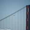 Blue Angels flying around the Golden Gate bridge