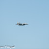 F-15 tomcat; notice a very slight vapor formation beneath the plane
