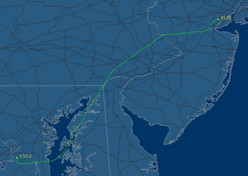 I had an IFR flight plan and negotiated with TRACON to give me more direct routing with Philly. It worked!