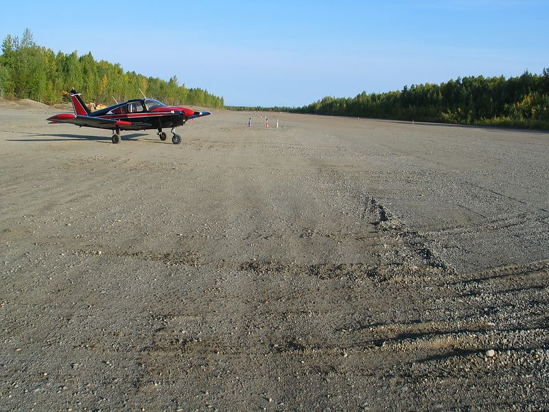 Willow Airport, a large airstrip by Alaska standards  /  Mike Pannone's Cherokee 180