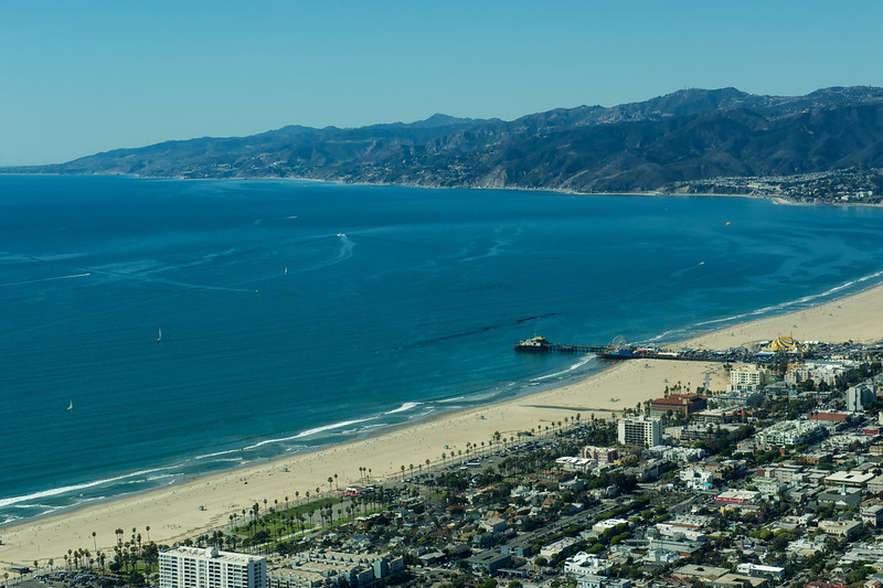 Santa Monica Bay and Pier with the Ferris Wheel